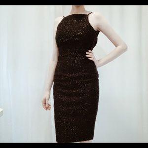 Black Sparkly Midi Dress